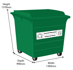 Recycling 1100L Bin