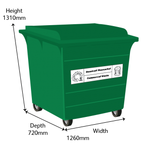 Recycling 660L Bin